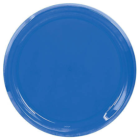 """Amscan Round Plastic Platters, 16"""", Bright Royal, Pack Of 5 Platters"""