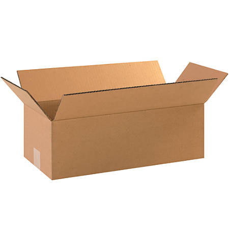 "Office Depot® Brand Corrugated Boxes, 4""H x 8""W x 18""D, 15% Recycled, Kraft, Bundle Of 25"
