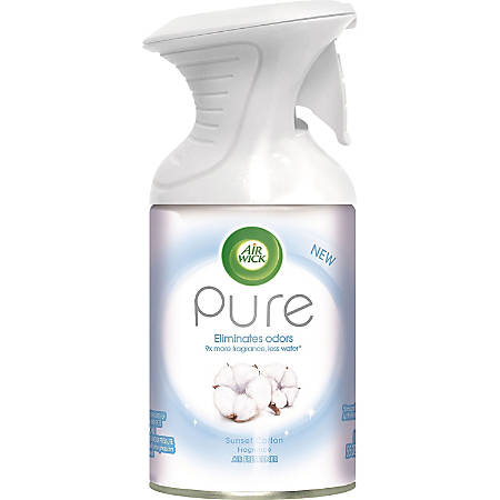 Air Wick Pure Aerosol Spray - Aerosol - 5.5 fl oz (0.2 quart) - Sunset Cotton - 1 Each - Odor Neutralizer, Residue-free