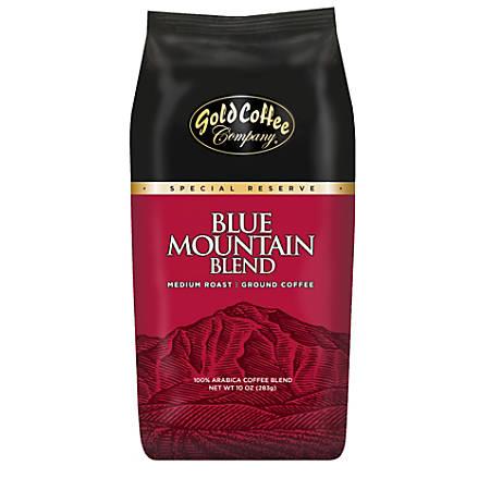 Gold Coffee Company Blue Mountain Blend Ground Coffee, 10 Oz