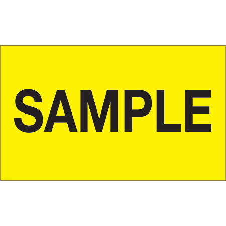 """Tape Logic® Preprinted Special Handling Labels, DL1157, Sample, Rectangle, 3"""" x 5"""", Fluorescent Yellow, Roll Of 500"""