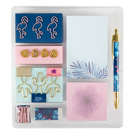 Office Depot® Brand Fashion Stationery Kit, Tropical
