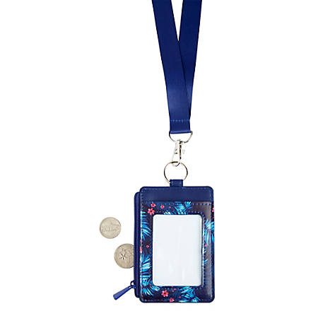 Office Depot® Brand Fashion Lanyard With Badge/Card ID Holder, Tropical Palm