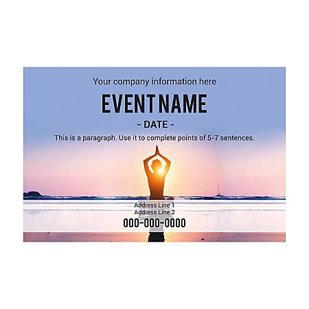 Adhesive Sign Template, Horizontal, Yoga