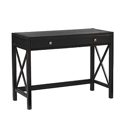 Linon Home Decor Products Anna Desk, Antique Black/Red