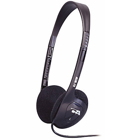 Cyber Acoustics ACM On-Ear Headphones, Black
