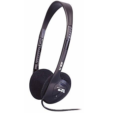 Cyber Acoustics ACM On-Ear Headphones, Black