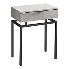 Monarch Specialties Accent Table Rectangular Gray