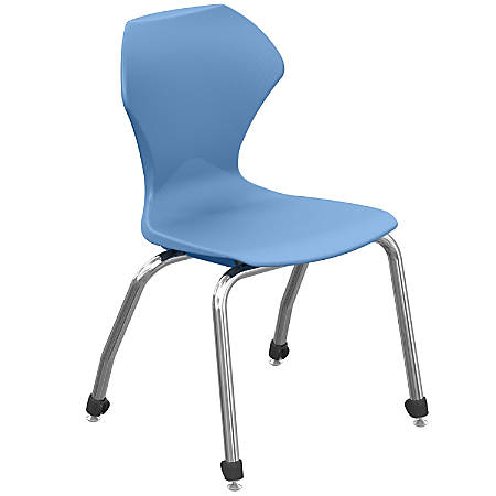 """Marco Group™ Apex™ Apex Series Stacking Chairs, 30-1/2""""H, Blueberry/Chrome, Set Of 4 Chairs"""
