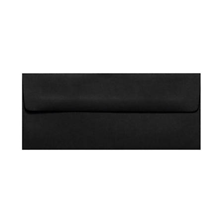 "LUX Envelopes With Peel & Press Closure, #10, 4 1/8"" x 9 1/2"", Midnight Black, Pack Of 1,000"
