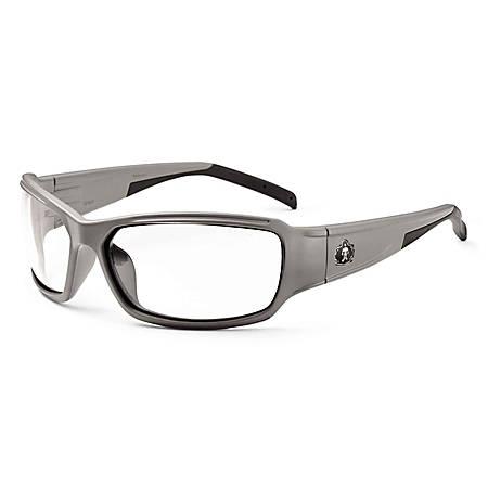 Ergodyne Skullerz® Safety Glasses, Thor, Matte Gray Frame, Clear Lens