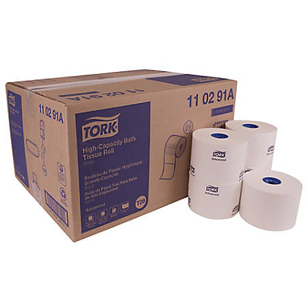Tork Advanced 1-Ply High-Capacity Bathroom Tissue, White, 2,000 Sheets Per Roll, Pack Of 36 Rolls