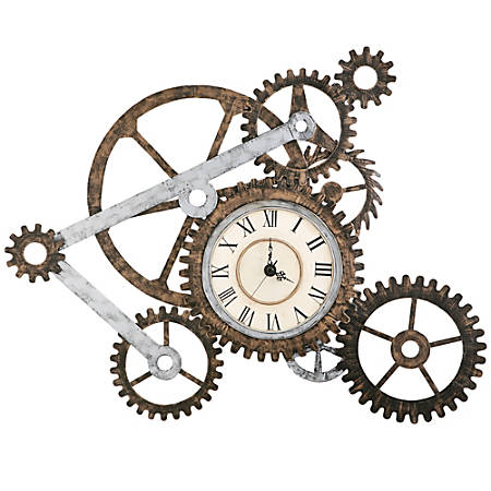 Southern Enterprises Metal Art Wall Gear Clock