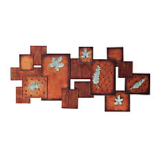 SEI Metal Wall Art Abstract Leaves
