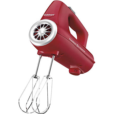 Cuisinart PowerSelect 3-Speed Electronic Hand Mixer Features - 220 W - Red