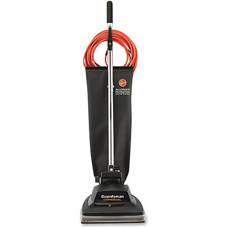 "Hoover Guardsman 12"" Bagged Upright Vacuum - Bagged - 12"" Cleaning Width - 6 A - Black"