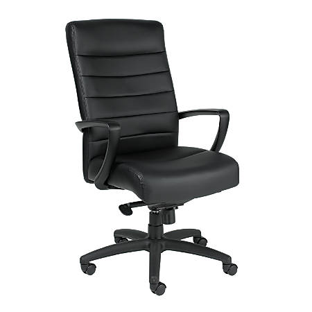 Mammoth Office Products Bonded Leather High-Back Executive Chair, Black
