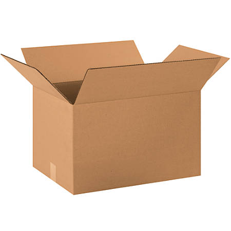 """Office Depot® Brand Corrugated Boxes, 14""""H x 16""""W x 22""""D, 15% Recycled, Kraft, Bundle Of 20"""