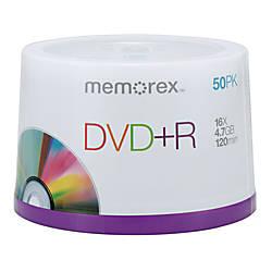 Memorex DVDR Recordable Media Spindle 47GB120