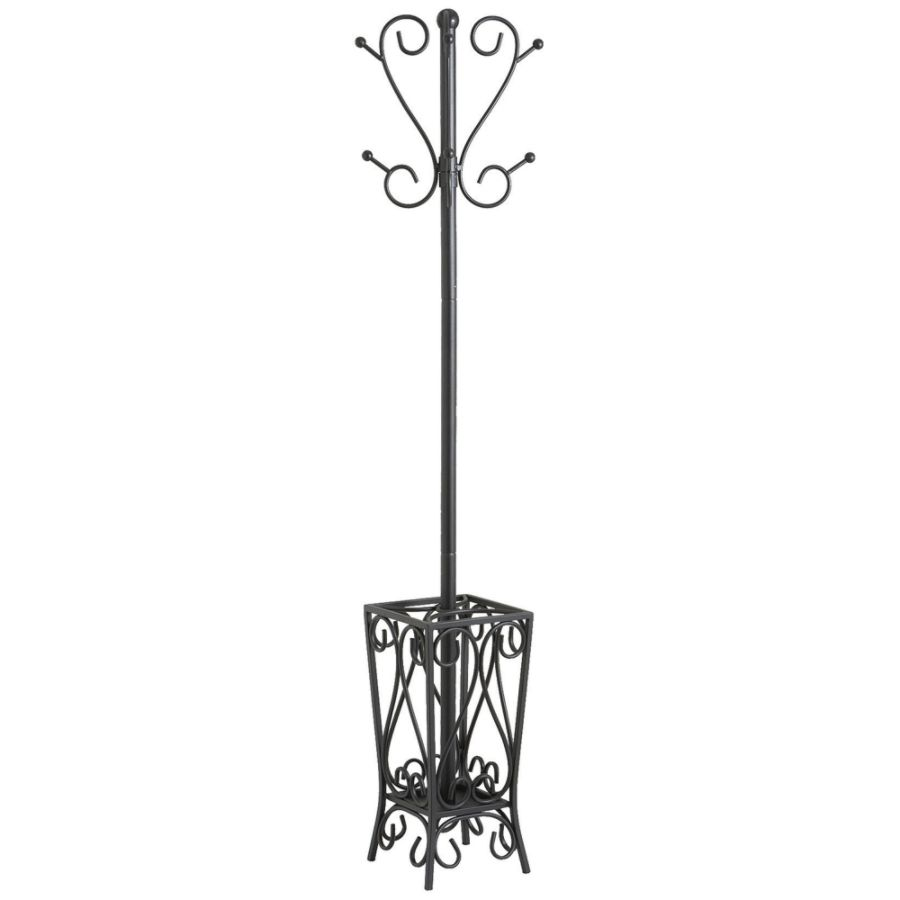 Southern Enterprises Multipurpose Decorative Coat Rack Hall Tree 69 H X 13  W X 13 D Black By Office Depot U0026 OfficeMax
