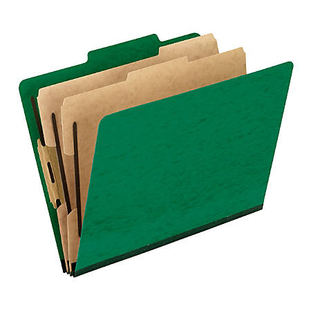 "Pendaflex® PressGuard® Color Classification File Folder, 8 1/2"" x 11"", Letter Size, 60% Recycled, Green, Box Of 10"