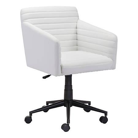 Zuo Modern Bronx Mid-Back Chair, Black/White