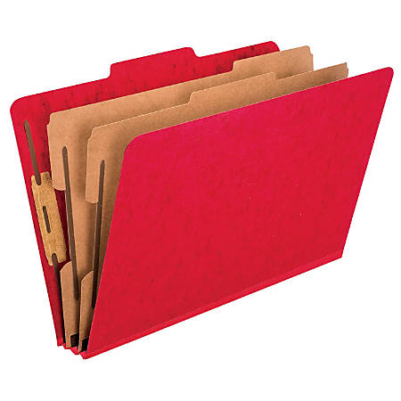 "Pendaflex® PressGuard® Color Classification File Folder, 8 1/2"" x 14"", Legal Size, 60% Recycled, Scarlet, Box Of 10"