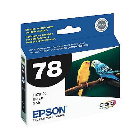 Epson® 78, (T078120) Claria® Hi-Definition Black Ink Cartridge