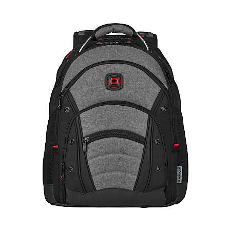 "Wenger® Synergy Backpack With 16"" Laptop Pocket, Black/Heather Gray"