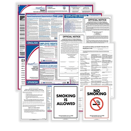 ComplyRight Federal, State And Public Sector Poster Set, Bilingual/English, New York