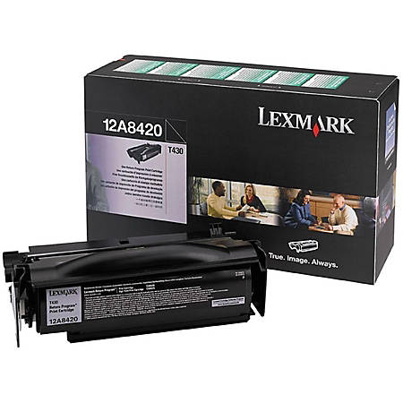 Lexmark™ 12A8420 Return Program Black Toner Cartridge