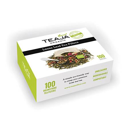 Teaja Loose Tea Filters, 0.5 Oz, Kraft, Box Of 100