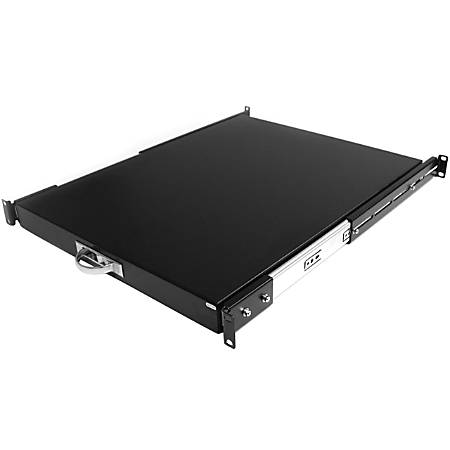 StarTech.com Black Deep Sliding Server Shelf