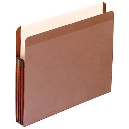 "Pendaflex® Tyvek® Premium Reinforced File Pocket, 3 1/2"" Expansion, 9 1/2"" x 11 3/4"", Dark Brown, Box Of 10 File Pocket"