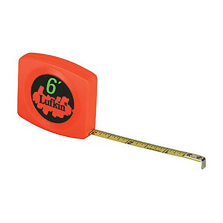 """Lufkin Pee Wee Pocket Measuring Tape, SAE, 10' x 1/4"""" Blade"""