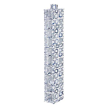"Honey-Can-Do 10-Shelf Hanging Vertical Closet Organizer, 54""H x 12""W x 12""D, Blue/White"