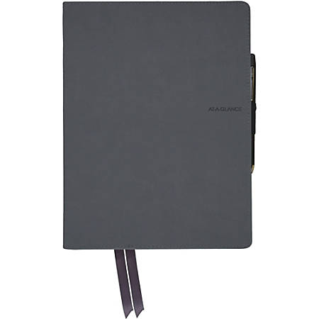 """Mead Casebound Premium Notebook - 80 Sheets - 9.9"""" x 7.6""""0.6"""" - Index Sheet, Perforated, Pocket - 1Each"""