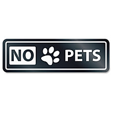 US Stamp Sign No Pets Window