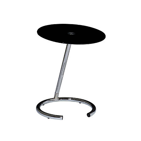 Ave Six® Yield Telephone Table, Chrome/Black