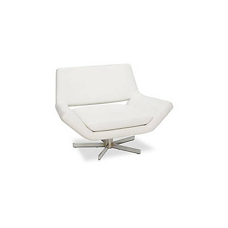 "Avenue Six Yield Collection 40"" Swivel Chair, 30""H x 40""W x 29""D, White"