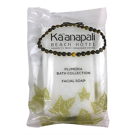 Ka'anapali Beach Plumeria Scent Facial Bar Soap In Sachet, 1.3 Oz