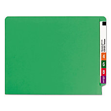 Smead Color End Tab Folders Straight