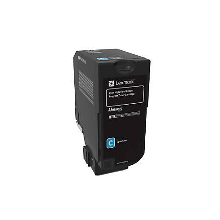 Lexmark™ Unison High-Yield Return Program Toner Cartridge, CS725, Cyan (74C1HC0)