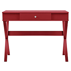 Ameriwood Home Paxton Campaign Desk Red