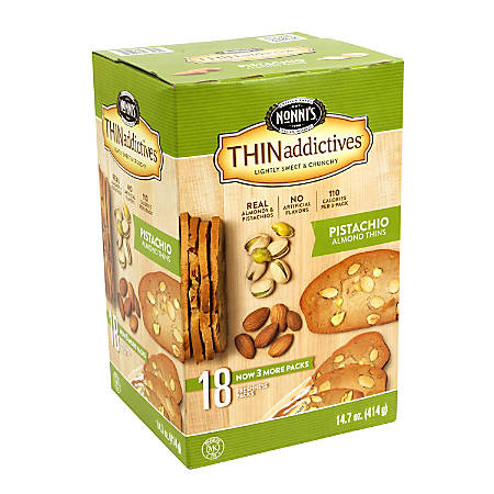 THINaddictives Pistachio Almond Thins, Pack Of 18