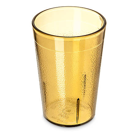 Carlisle Stackable SAN Plastic Tumblers, 8 Oz, Amber, Pack Of 72