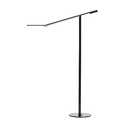 """Koncept Equo LED Floor Lamp, 56-3/4""""H, Cool/Black"""