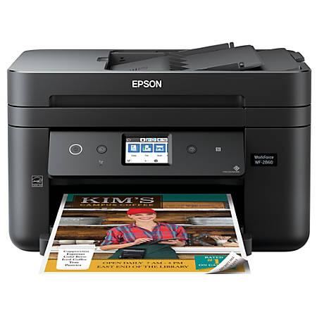 Epson® WorkForce® WF-2860 Wireless Color Inkjet All-In-One Printer, Copier, Scanner, Fax, C11CG28201
