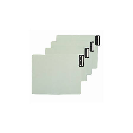 "Smead® Pressboard End-Tab Guides, Blank, Vertical, 9 1/2"" x 12 3/4"", 100% Recycled, Gopher Green, Pack Of 50"