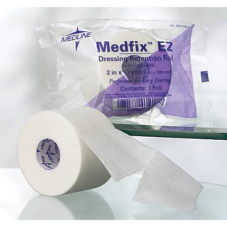 """Medline MedFix EZ Wound Tape, 4"""" x 2 Yd., White, Box Of 12"""